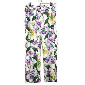 Ashley Stewart Sz 18 Floral Wide Leg Pants NEW NWT